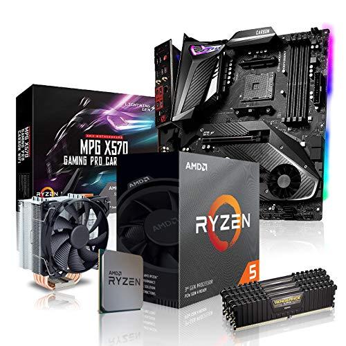 dcl24.de PC Aufrüstkit [11803] AMD 5-3600X 6x3.8 GHz - 32GB DDR4 3600MHz, X570-GPC Mainboard Bundle Kit, ohne onBoard Grafik, eigenständige Grafikkarte notwendig