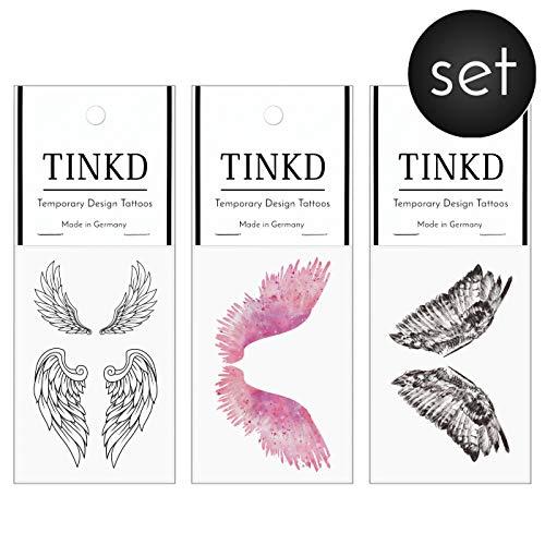 TINKD Engel Flügel Tattoos - Angel Wings Set - Engelsflügel - Made in Germany