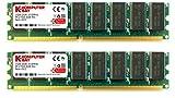 KOMPUTERBAY 2 GB (2 x 1 GB) DDR 333Mhz PC2700 DDR333 (184 PIN) DIMM Desktop-Speicher CL 2.5