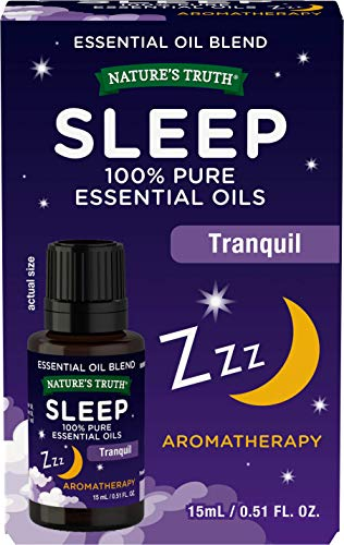 Nature's Truth Sleep Aromatherapy Oil Blend | 15ml | Lavender, Chamomile, Frankincense | for Better Sleep, Relaxation, Anxiety & Stress