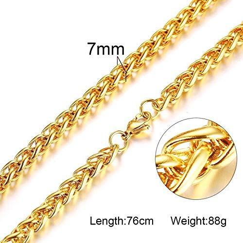 Halskette Lange Männer Halskette Edelstahl Twisted Rope Weizen Miami Cuba Link Kette Halsketten 30Inch