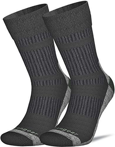Coolmax Merinowolle Socken für Männer & Frauen - Wandern - Trekking - Trail Walking - Nahtlose Zehen - Gepolstert - Atmungsaktiv & Weich - L