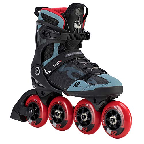 K2 Skates Herren VO2 S 90 PRO M Inline Skates, black-grey-red, 43.5 EU (9 UK)