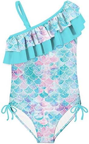swimsobo Girls Bathing Suits Athletic Swimsuit One Piece Double Ruffles Bikini Mermaid Fish product image