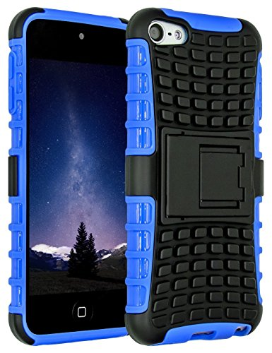 SLMY zting18 iPod Touch 6 Case,iPod Touch 5 Case, (TM) Heavy Duty Dual Layer Shockproof/Impact Resistance Hybrid Rugged Cover Case with Built-in Kickstand for Apple iPod Touch 5 6th Generation Blue