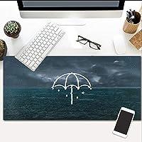 マウスパッド傘の風景拡張アンチスリップラバーベースと防水面エクストララージキーボード800X300Mm