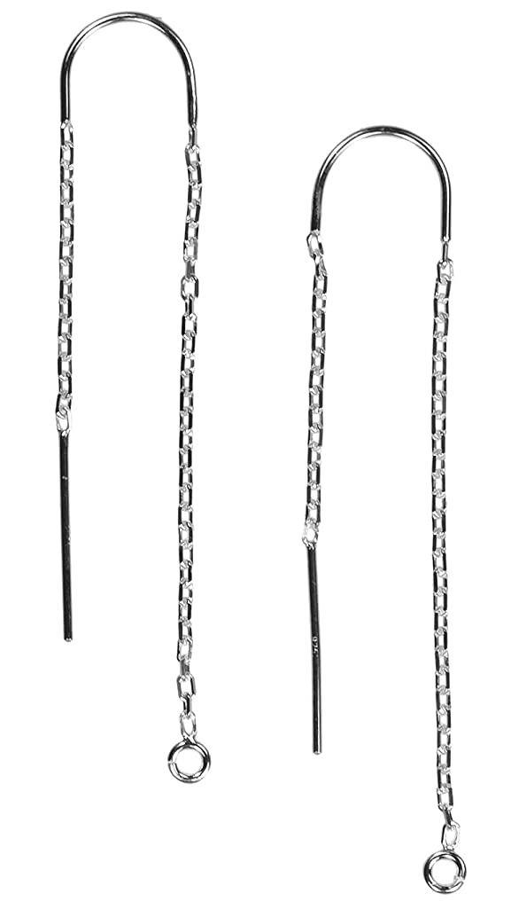 2 Sterling Silver U-Threader DC Cable Chain Drops w/Ring