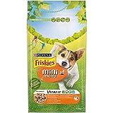 Purina Friskies Croquettes pour Chien Vitafit Mini Menu jusqu'à 10 kg avec Poulet et légumes ajoutés, 6 Sacs de 1,5 kg chacun