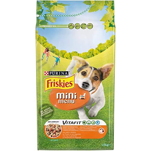 Friskies Vitafit Mini Menu - Pienso para Perros de hasta 10 kg, con Pollo y Verduras añadidas 1,5 kg