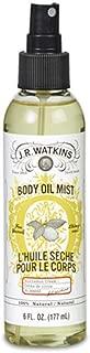 JR Watkins Natural Hydrating Body Oil Mist, Lemon Cream, Moisturizing Body Oil Spray for Glowing Skin, USA Made and Cruelty Free, 6 fl oz