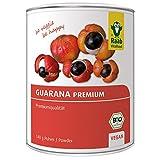 Raab Vitalfood Bio Guarana-Pulver Premium Qualität aus 100 % Guarana-Samen aus Brasilien, vegan, ohne Zusätze, glutenfrei, natürliches Koffein, 140 g