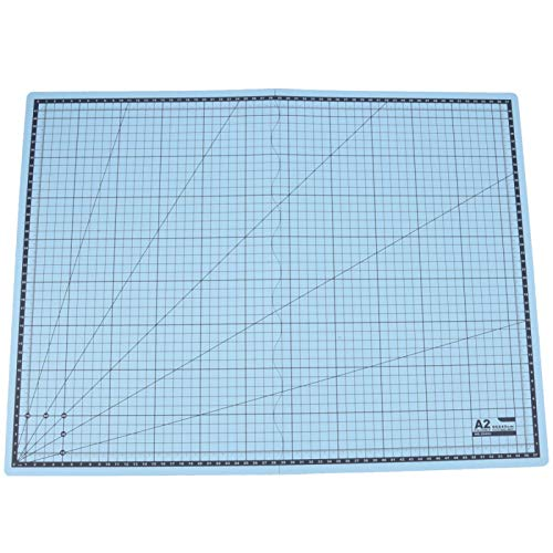 Alfombrilla de corte plegable A2 Alfombrilla de corte autocurativa Tabla de cortar Alfombrilla de escritura para manualidades(Cielo azul)