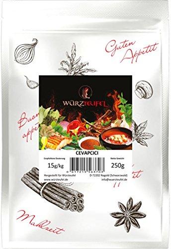 Cevapcici - Gewürz. Cevapcici - Gewürzzubereitung, Ćevapi nach bosnischem Originalrezept mit Bohnenkraut und Chili. Beutel 250g.