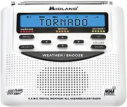 Midland - WR120, NOAA Emergency Weather Alert Radio - S.A.M.E. Localized Programming, Trilingual Display, 60+ Emergency Alerts, & Alarm Clock (WR120C - Clam Packaging)
