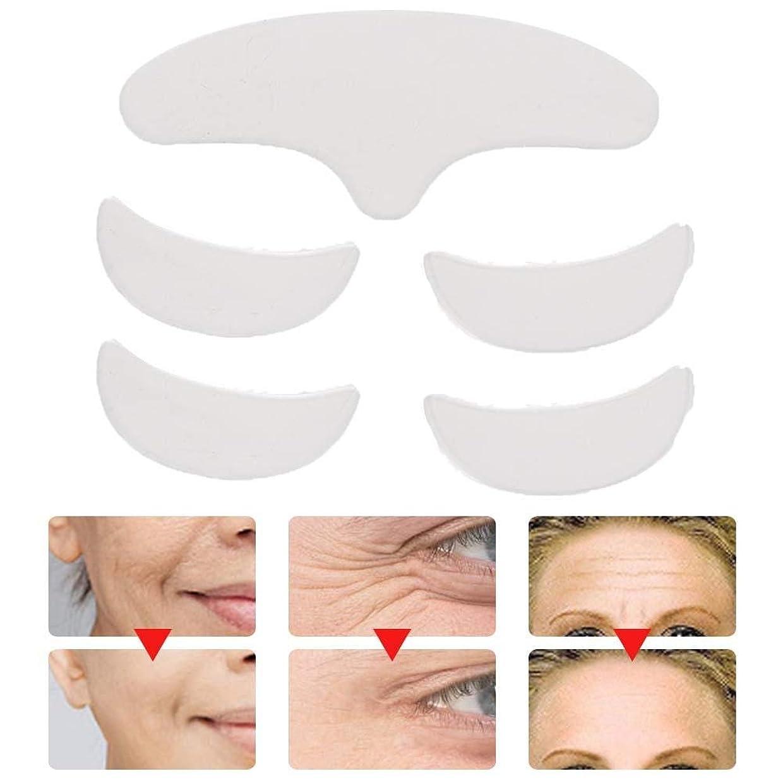 ピンク蒸気作家5個再利用可能な洗える額の目の顔のパッチ、抗しわパッドスキンリフティングシリコーンパッチ