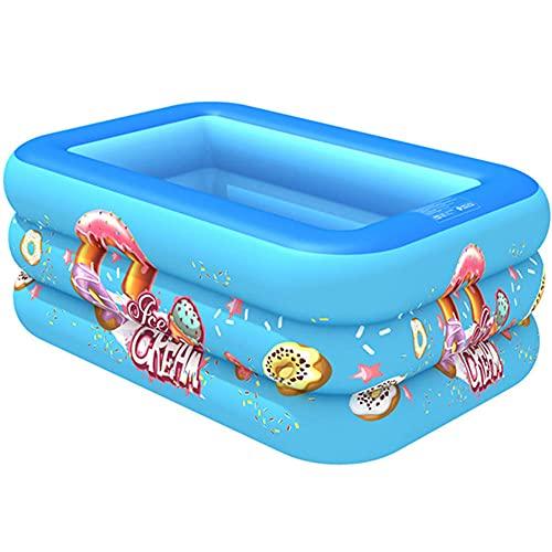 CMAO Piscina Inflable para niños para niños, Piscina de Bola del océano súper Grande de la Familia, Piscina Grande de Remo Grande-4.3 * 2.8 * 1.6 pies_Azul