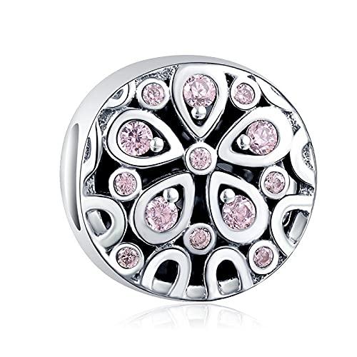 Colgante para mujer de Plata de Ley 925, pulsera de cuentas de Pandora, joyería, abalorios infinitos reales, ajuste Original Diy para regalo de mujer