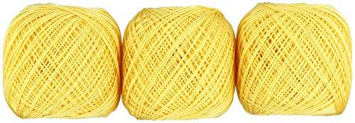 オリムパス製絲 金票 レース糸 #40 Col.521 イエロー 系 10g 約89m 3玉セット