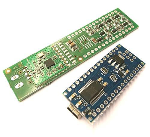 CUL NanoCUL Transceiver Platine für 433MHz, 868MHz RFM69-HW, CC1101 RF Funkmodule und Flashspeicher SO8 incl. Levelshifter / Levelconverter 5V zu 3V3 (Board + Funkmodul CC1101 868MHz und 8MBit Flash)