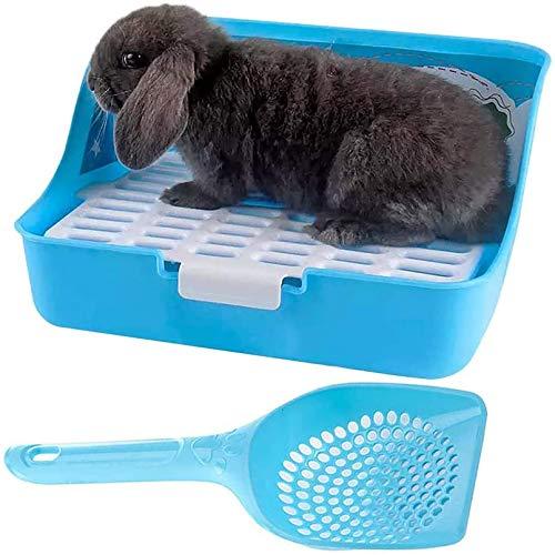 PINVNBY Kaninchenkäfig, Kleintiere, Ecktoilette mit Schaufel für ausgewachsene Meerschweinchen, Frettchen, Ratten