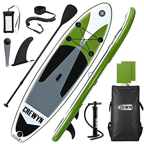 CREWYN Inflatable Stand Up Lightweight Paddle Board-10x30x6 Only $189.99 (Retail $399.99)