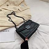 Mdsfe Bolsos Cruzados pequeños con Cadena de Remache para Mujer 2020 Bolsa de Mensajero de Hombro Lady Luxury Handbags - Negro