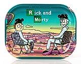"""Wepeel Mini-Tablett zum Rollen von Zigaretten, aus Metall, mit Motiv """"Rick and Morty"""" (18 x 14..."""