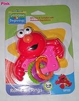 Sesame Street Elmo Rattle withリング、BPAフリー