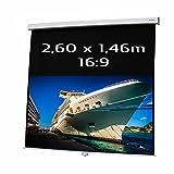 KIMEX 041-3416 Ecran de Projection Manuel 2,60 x 1,46m, Format 16/9
