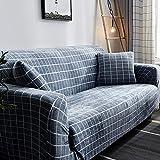 D&LE Funda de sofá Cubre 1 2 3 4 Plazas Color Puro Felpa Protector de sofá Terciopelo Fácil Ajuste elástico Tela Stretch Protector para sofás-C 3 Plazas 190-230cm