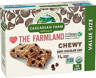 Cascadian Farm Chewy Granola Bar, Chocolate Chip, Organic, 10 Bars