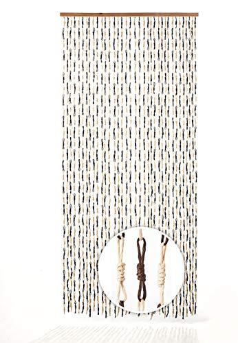 Kobolo Türvorhang Papiervorhang Knots braun 90x200 cm