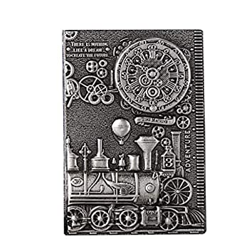 lehaha 3D Embossed PU Leather Hard Cover Journal A5 Notebook Vintage Travel Diary Planner Sketchbook Notepad Writing Book Gift for Women Men