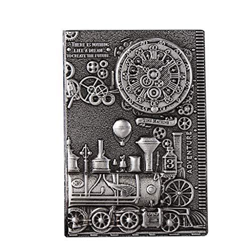 Ixkbiced Quaderno A5 con Copertina Rigida in Pelle Goffrata 3D Quaderno per diario Vintage Agenda per Appunti