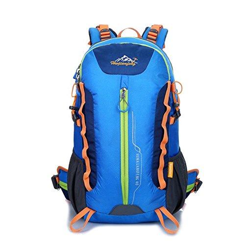 XY-QXZB 40L climbing Backpack Oxford imperméable à l'eau léger randonnée havresac voyage sac à dos extérieur multifonction grand Pack H32 x L50 x T22 cm, blue