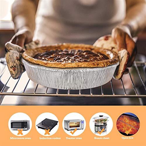 51bgYLKMjvL - ASDAF 20pcs Einweg-Grill Pfannen mit Deckel aus Aluminium Foil Barbecue-Behälter für Fettauffangwannen Ersatz Liner Wannen