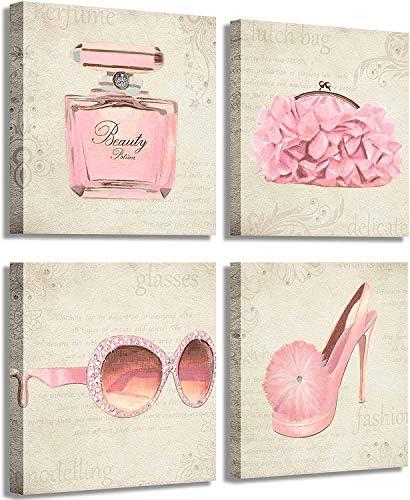 Yang Hong Yu Fashion Girl Living Room Art Wall Art Print Pink Handbags High Heels and Vogue product image