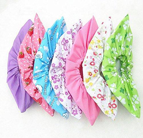 6 paires de tissu non tissé Envers antidérapant Couvre-chaussures Floral Couleur Candy Couleur lavable réutilisable respirant à la poussière Sol protecteurs Couvre-chaussures Couleur aléatoire