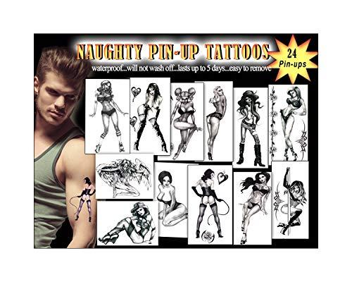 Naughty Pin-ups Temporary Tattoos Package