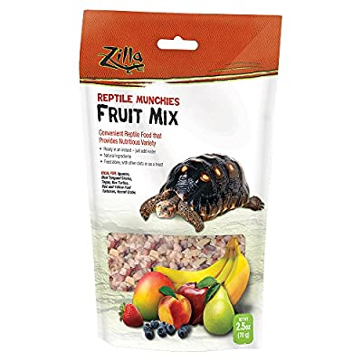 Zilla Reptile Food Munchies Fruit Mix, 2.5-Ounce from Zilla