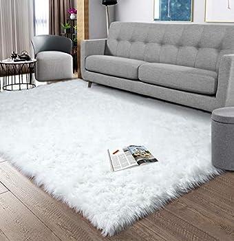 Best big white fluffy rug Reviews