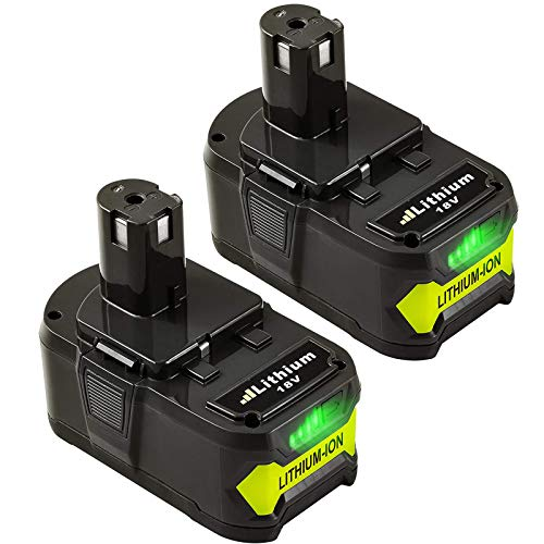 2Packs 6.0Ah P108 Lithium Replacement Battery Compatible with Ryobi 18V Battery ONE+ P103 P104 P105 P107 P108 P109 P190 P191 P122 Cordless Tools