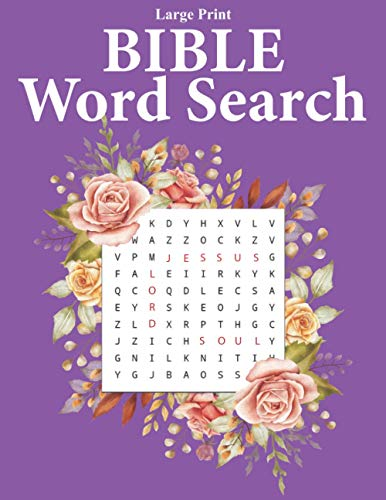 Large Print Bible Word Search: Word Search Puzzle Books For Adults | Large...