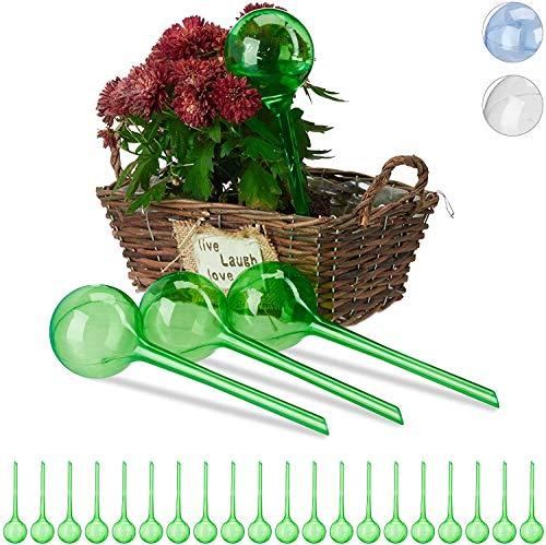 BETOY Bewässerungskugeln, 6er Set, Dosierte Bewässerung, 2 Wochen, Versenkbar, Topfpflanzen, Kunststoff, Transparent, PVC, für Garten Haus Indoor Outdoor Bewässerung Wasserspender Bewässerungskugel
