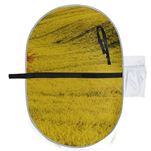 Bébé Portable Pad Imperméable Pliable Colza Colza Champ de Fleurs de Cerisier Printemps Diaper Mat Tapis De Voyage Pendaison Pratique