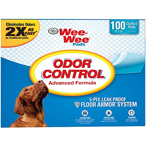 Wee-Wee Odor Control Puppy Pads, Pack of 100 Pads, 100 CT