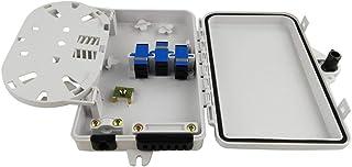Haishi Caja de distribución de Fibra de 6 núcleos Caja de distribución de Fibra óptica montada en la Pared Caja de Fibra ó...