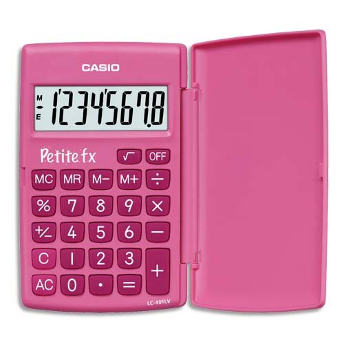 Casio LC-401LV Petite Fx basisrekenmachine, roze