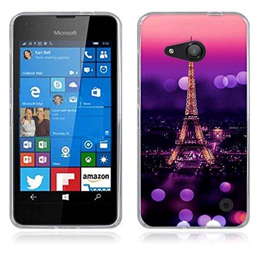 FUBAODA für Nokia Microsoft Lumia 550 Hülle, [Eiffelturm] Künstlerische Malerei-Reihe TPU Case Schutzhülle Silikon Case für Nokia Microsoft Lumia 550