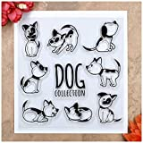 Kwan Crafts Dog Collection Clear Stamps for Card Making Decoration and DIY Scrapbooking